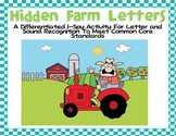 Hidden Farm Letters-Differentiated I-Spy for Common Core S