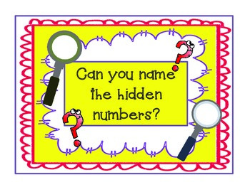 Hidden Number Math Center