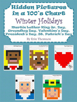 Hidden Pictures in a 100's Chart ~ Winter Holidays {Januar