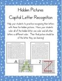 Hidden Pictures for Capital Letter Alphabet Recognition