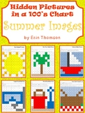Hidden Pictures in a 100's Chart ~ Summer Fun