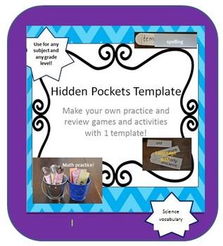 Hidden Pockets Template - Make Your Own Hidden Pockets
