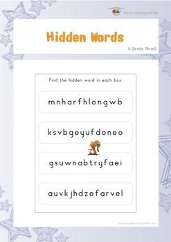 Hidden Words (3rd Grade)