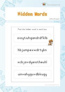 Hidden Words (Pre-K)