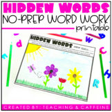 Hidden Words Word Work Activity