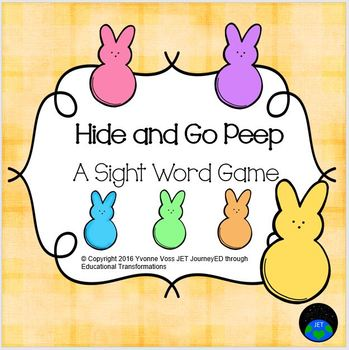 Hide and Go Peep - A Sight Word Game