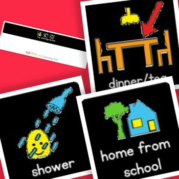 High Contrast Evening Routine - Boardmaker Visual Aids for Autism