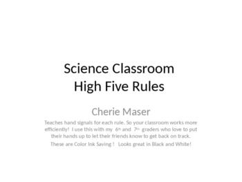 High Five Classroom Rule Set
