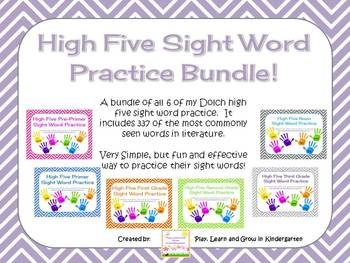 High Five Sight Word Practice Bundle
