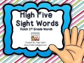 High FiveSight WordsDolch 1st Grade Words