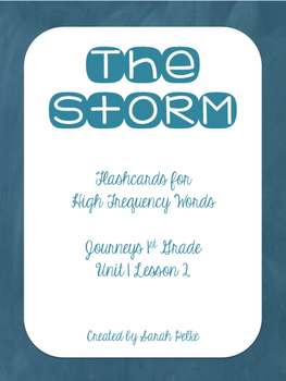High Frequency Flash Cards for Journey's The Storm