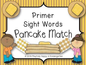 Dolch Sight Word (Primer) Pancake Matching Game