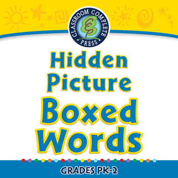 High Frequency Picture Words: Hidden Picture - Boxed Words