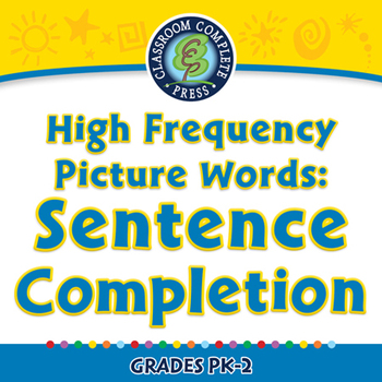 High Frequency Picture Words: Sentence Completion - PC Gr. PK-2