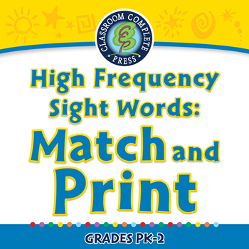 High Frequency Sight Words: Match and Print - MAC Gr. 5-8