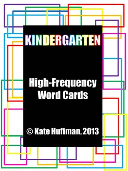 High Frequency / Sight Words for Kindergarten