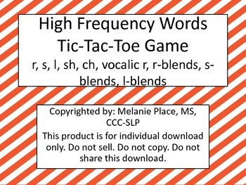 High Frequency Tic-Tac-Toe Boards