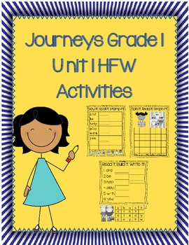 High Frequency Word Activities Journeys 1st Grade Unit 1 L