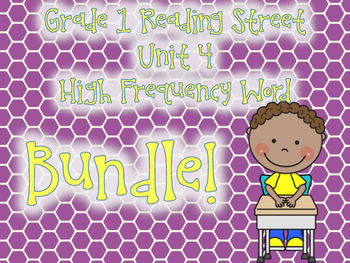 High Frequency Word Activities Reading Street Grade 1 Unit