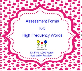 Assessment for High Frequency Words