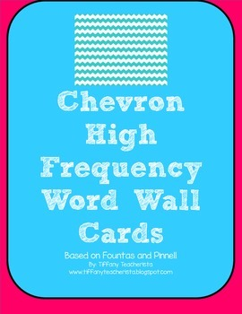 High Frequency Word Cards (Fountas & Pinnell 100 & 150 Word Sets)