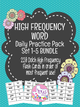 High Frequency Word / Sight Word Daily Practice Pack {SET