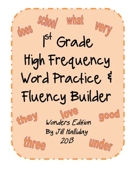 High Frequency Word Fluency First Grade- supports McGraw H