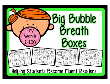 High Frequency Word Fluency Intervention: Set 1 Fry Words