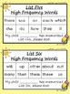 High Frequency Word Incentive Program using Fry's Sight Words