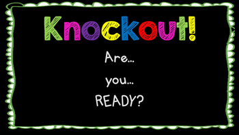 High Frequency Word Knockout - Reading Street