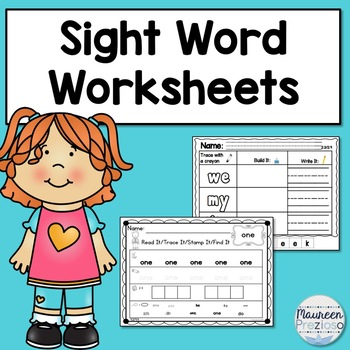 Sight Word Activities and Practice Pages