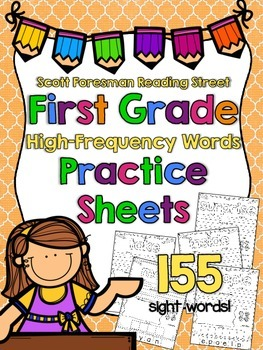 High-Frequency Word Practice Sheets for First Grade {Readi