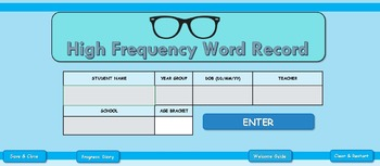 High Frequency Word Tracker and Monitoring system - Primar