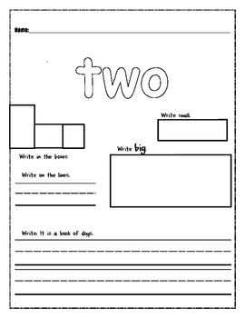 High Frequency Word WS - two