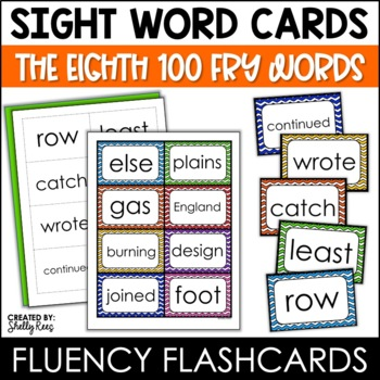 Word Wall Sight Words - Fry List - The Eighth 100 - Chevro