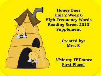 High Frequency Words- Honey Bees Reading Street Grade 1 Un