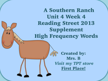 Reading Street Grade 1 Unit 4 Week 4 High Frequency Words