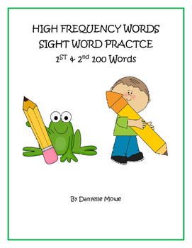 High Frequency Words BUNDLED - 1st & 2nd 100  Sight Word Practice