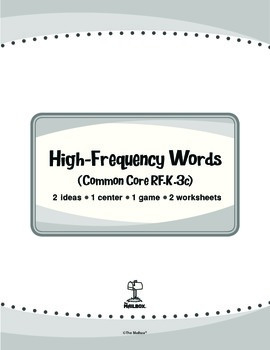 High-Frequency Words (Common Core RF.K.3c)