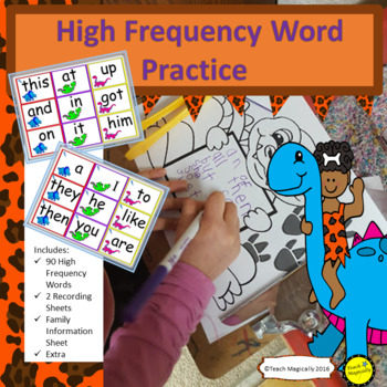 High Frequency Words!  Dinosaur Mania!