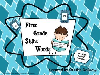 Spanish & English Sight Words - First Grade (Set A)