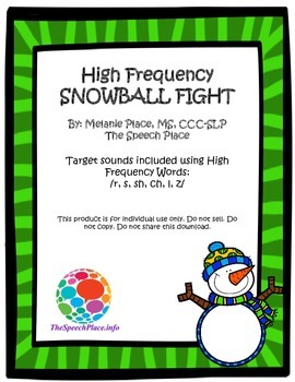 High Frequency Words-Snowball Fight