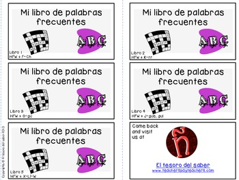 High Frequency and Vocabulary Words - Spanish Booklet