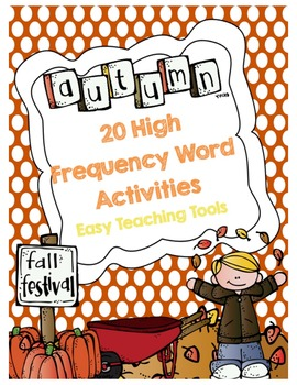 High Frequency/Sight Word Activities:Fall {20}