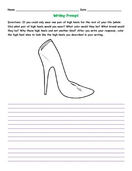High Heel Writing Prompt