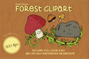 High Quality FOREST FLOOR Clipart