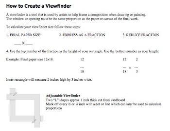 High School Art Worksheets. 12 reproducible handouts for y