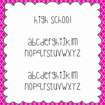 High School Font {personal and commercial use; no license needed}
