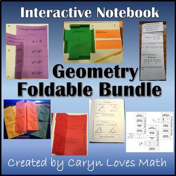 High School Geometry Foldable Bundle~10 sets~Triangles~Sim