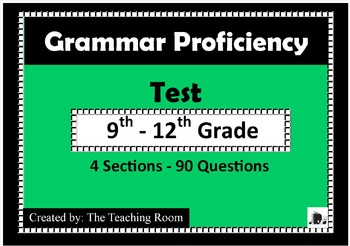 Grammar Pre-test & Post Test High School